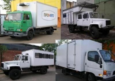 Фургоны промтоварные, изотермические, рефрижераторы, тушевозы, коневозы, эвтектические./