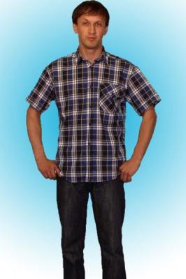 Рубашка мужская с коротким рукавом/