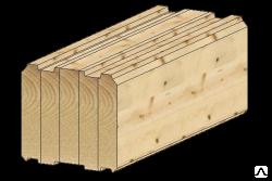 Производство профилированного клееного бруса сечением до h 270 x 280/
