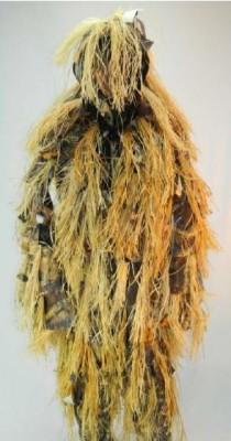 Плащ маскировочный из сетки, поверх которой настрочены ленты с бахромой и пучки лыка.  Плащ КИКИМОРА Ткань верха...