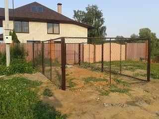 Забор из рабицы/