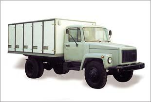 Фургон хлебный ГАЗ-3309 (на 175 лотков / на 200 лотков)/