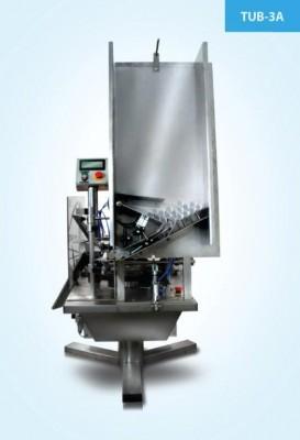 Фасовочный аппарат для упаковки продукта в тубу (с автоматической подачей туб)/