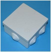 Коробка <a target=_top  href=/search/распределительная><big>распределительная</big></a> для наружной проводки 6-ти выводная 80*80*40/