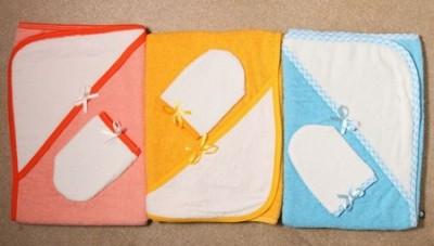 Полотенце для купания + варежка/