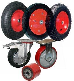 Колеса, колесные опоры и ролики/
