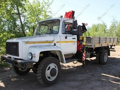 ГАЗ-33086 Земляк с краном-манипулятором КМУ FERRARI 581 A2/