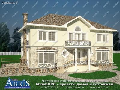 Проект красивого большого дома/
