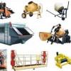 Оборудование, Промышленное оборудование, Строительное оборудование