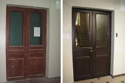 Дверь из массива ольхи Венеция ДО венге