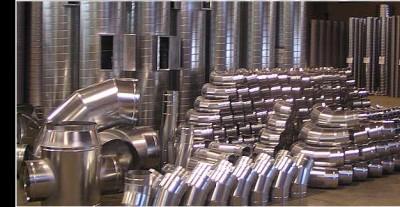 производство систем вентиляции, изготовление деталей из оцинкованной стали/