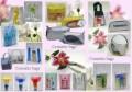 Косметички из прозрачной пленки, ткани, сетки; пляжные сумки, сумки для...