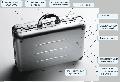 Полностью алюминиевый кейс для транспортировки и хранения документов, а...
